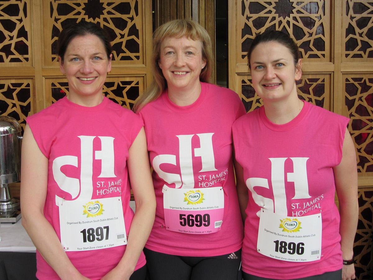 Joanne Rogers 46 mins), Anne Grogan and Grace McNally (59 Mins)   St. James's Hospital Foundation
