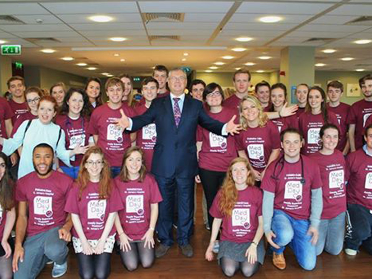 MedDay 2014 launch Joe Duffy with Med Day Committee   Donate   St. James's Hospital Foundation