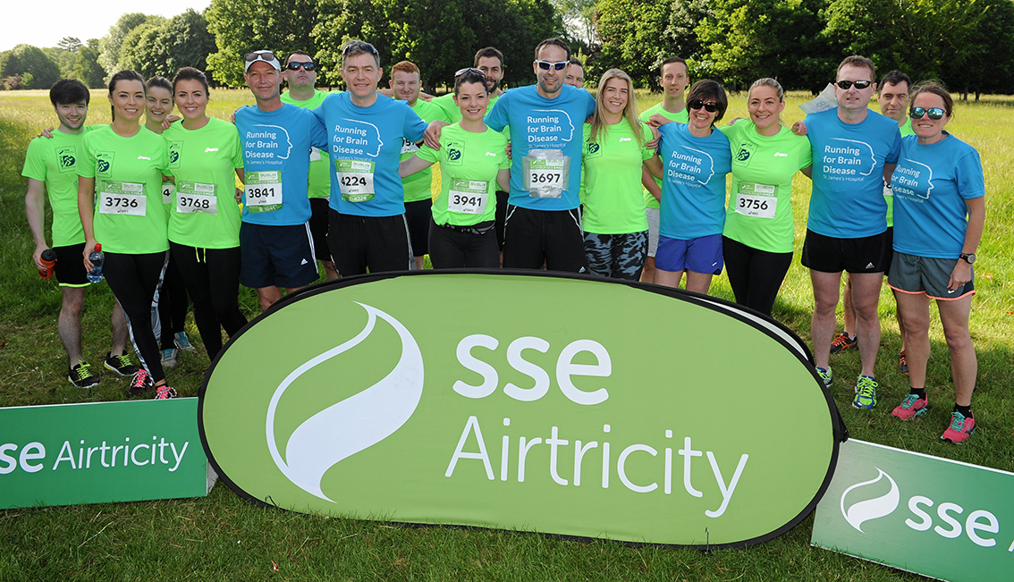 Dr Colin Doherty and members of the neurology team, run the Irish Runners 5 Mile as part of their preparation for the SSE Airtricity Dublin Marathon to raise funds for Brain Disease
