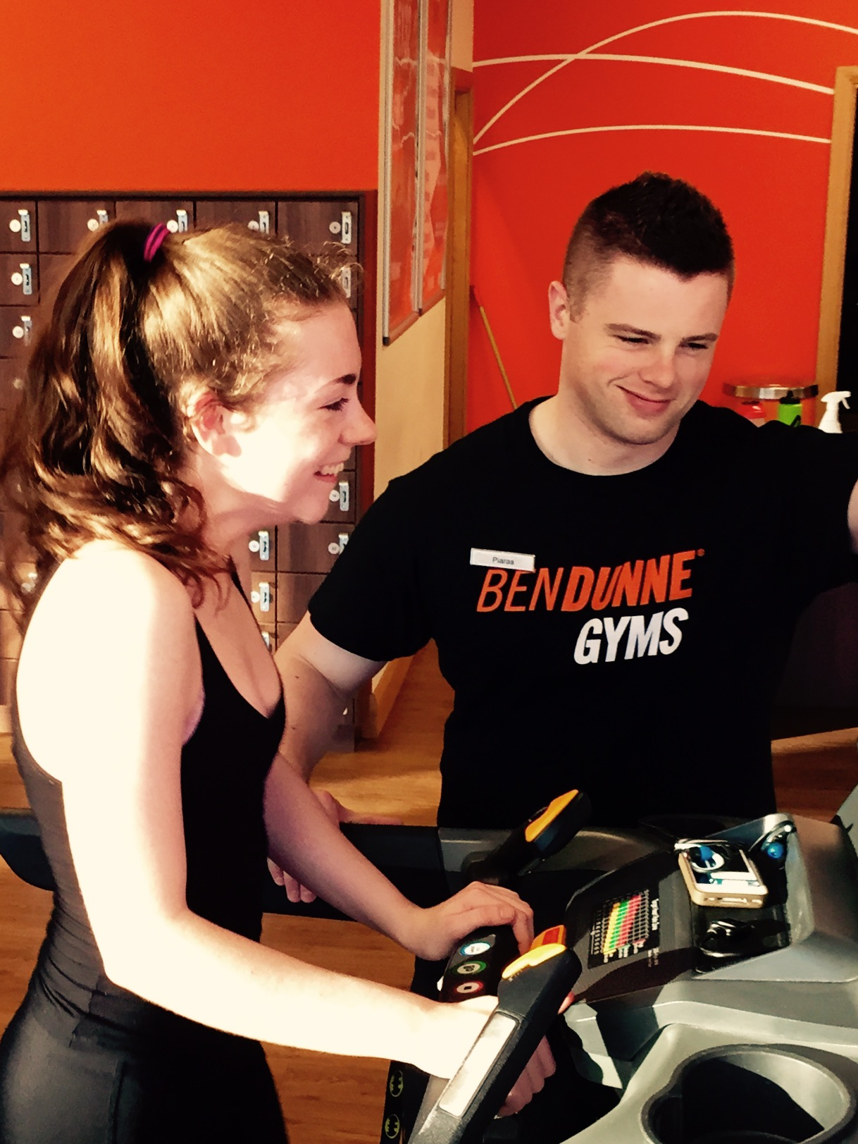 Katie being put through her paces in Ben Dunne Gym Loughlinstown1 - Copy