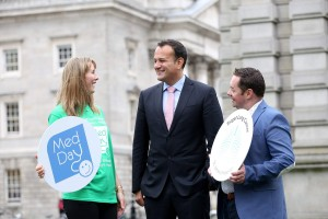 Minister for Health, Leo Varadkar T.D. and Neven Maguire, awarding winning chef, launch Med Day at Trinity College Dublin.