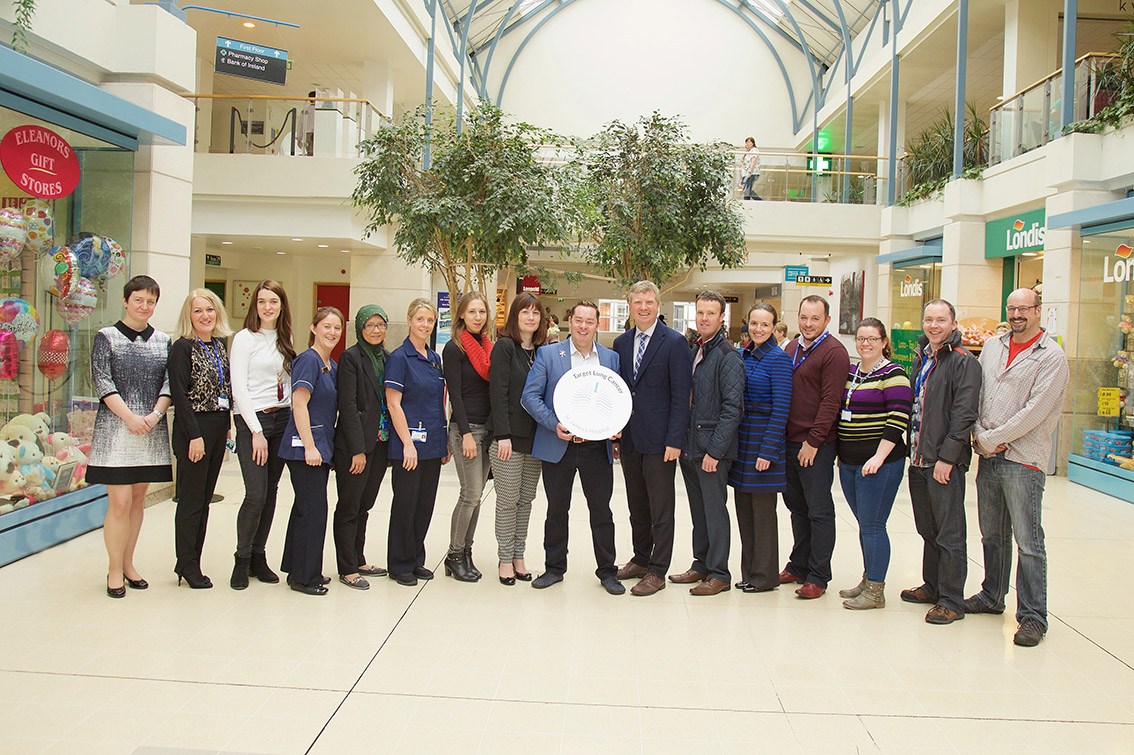 Neven Maguire and the Target Lung Cancer team