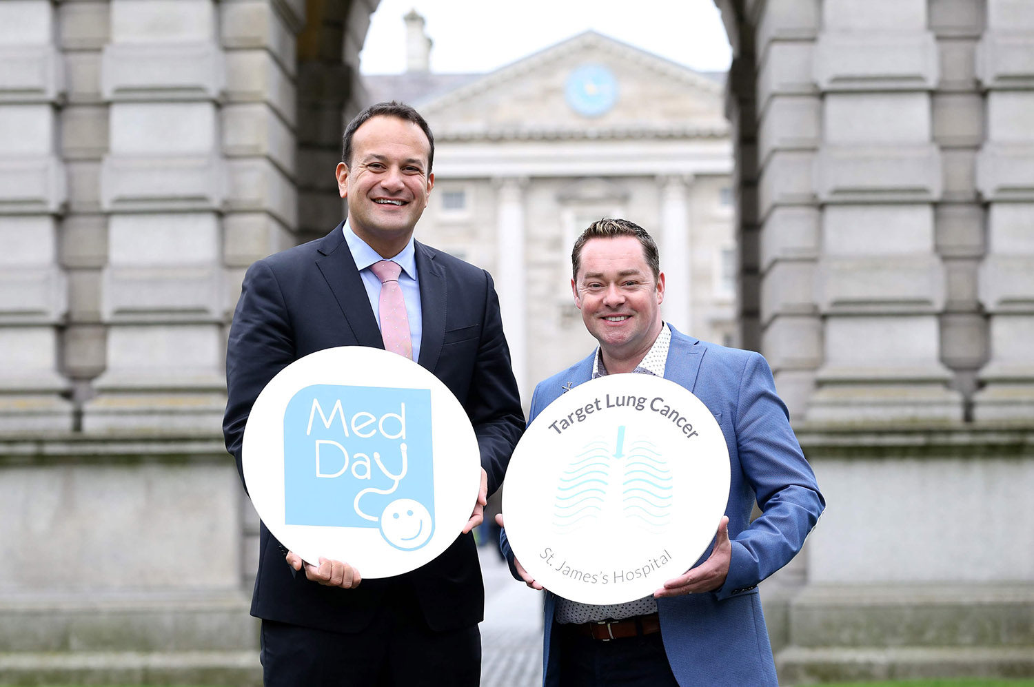 Minister for Health Leo Varadkar TD and Neven Maguire