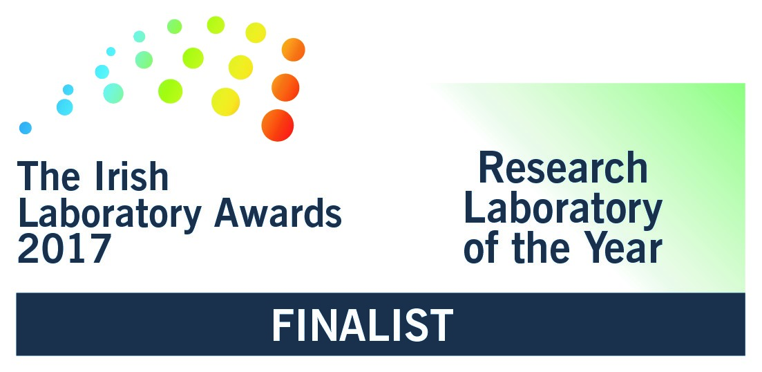 logo for the finalists in the Research Laboratory of the year category, Irish Laboratory Awards 2017