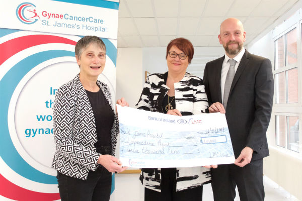 Photo of Susan Carry Cheque presentation