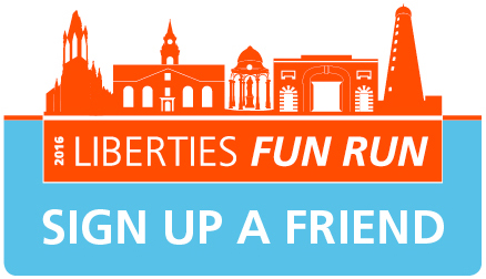 Sign up a friend to the Liberties Fun Run