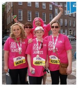 jog for james's vhi mini marathon team