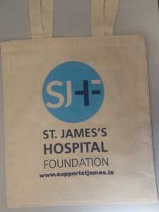 photos of St. James's Hospital Foundation tote bag