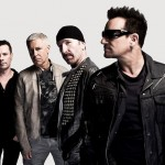 Photo of U2 for the ticket raffle at St. James's Hospital