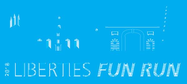 Liberties Fun Run 2018 logo cyan