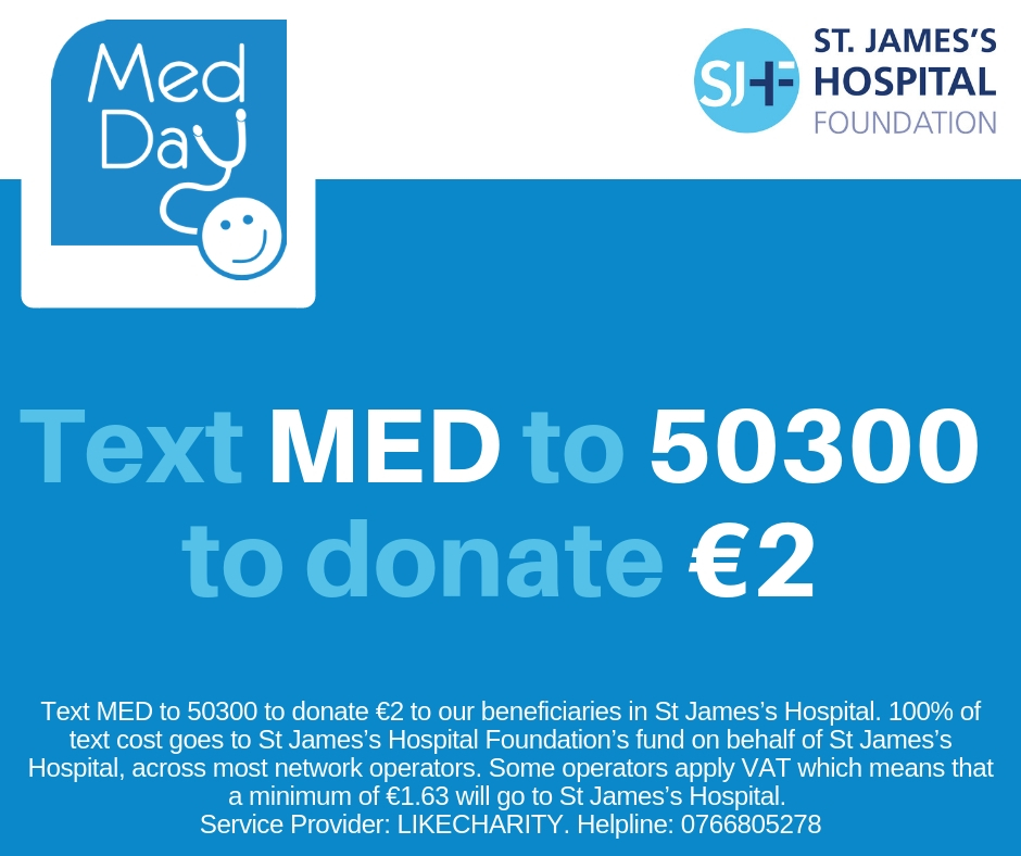 Text MED to 50300to donate €2