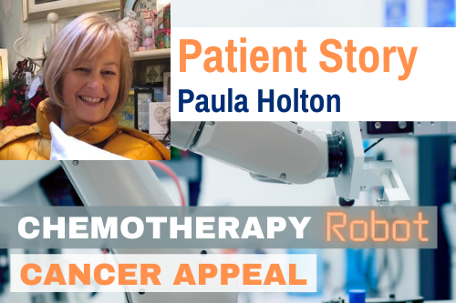 web news patient paula holton Instagram CHEMOTHERAPY ROBOT APPEAL